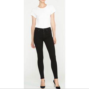Hudson black skinny jeans with flap pocket